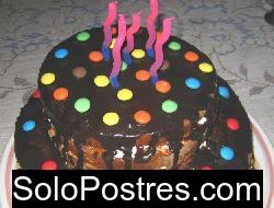 Torta simple de cumplea�os infantil. Super f�cil (tortas infantiles)