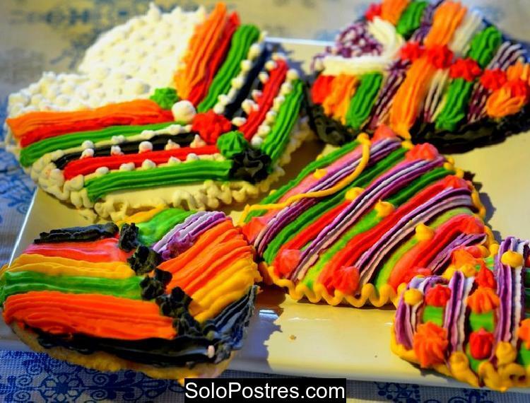 Galletitas de especias con muchos colores