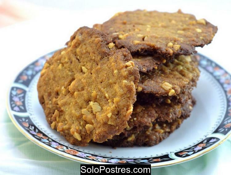 Galletas o galletitas de mantequilla de maní (cacahuates)