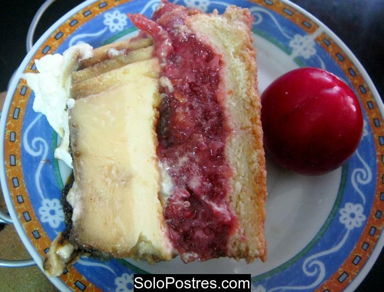 Tarta de gelatina de frutillas (fresas) y creme bruleè