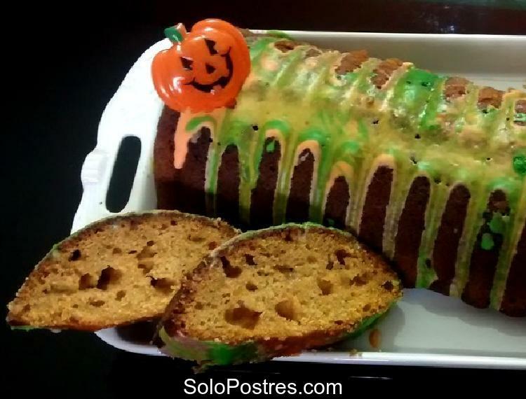 Pastel o torta de calabaza con nueces