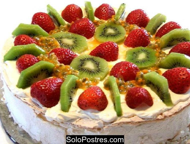 Cheesecake de kiwi y frutillas (fresas)
