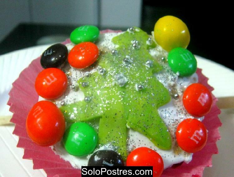 Cupcakes con motivo navideño