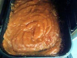 dulce de membrillo sacado del horno
