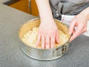 masa de tarta con galletas