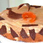 Postre mousse de chocolate y crema de naranja