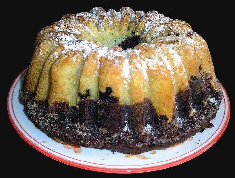 Torta marmolada en microondas