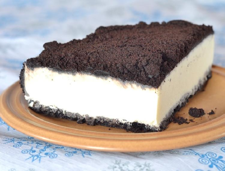 Baño Blanco Para Budines:Cheesecake de galletitas oreo y chocolate blanco
