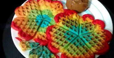 wafles arcoiris