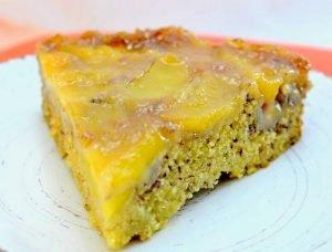 Torta vegana de manzanas