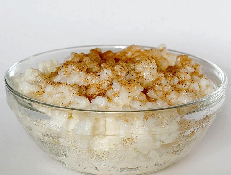 arroz con leche y naranja