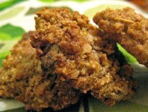 Galletitas crocantes con semillas de lino