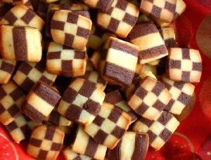 Masitas tréboles de vainilla y chocolate