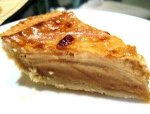 torta de peras en capas