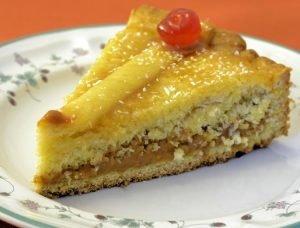 tarta de dulce de leche y coco