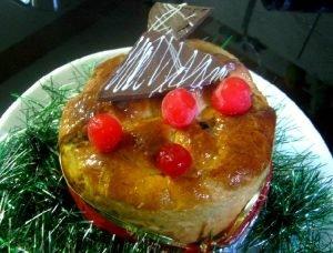 receta de panettone navideño