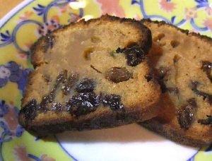 Torta distinta de harina de maíz y pasas