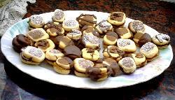 Masitas combinadas con masa de chocolate y vainilla