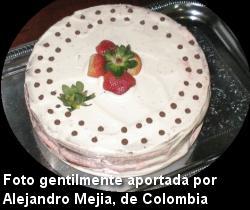 Torta de chocolate con frutas