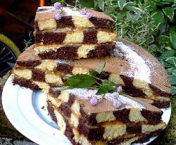 Torta ajedrez de chocolate y vainilla