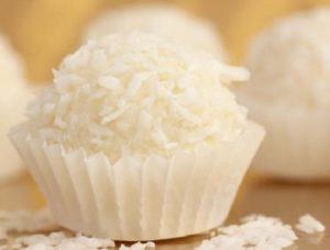 Conserva de leche en polvo y coco