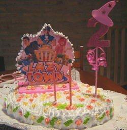 Torta de cumpleaños de Lazy Town