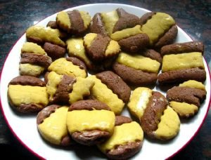 Galletitas de vainilla y chocolate