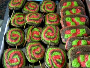 Galletitas chupetín de chocolate y colores varios