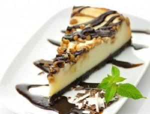 Cheesecake de vainilla y chocolate (efecto marmolado)