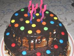 Torta simple de cumpleaños infantil. Super fácil (tortas infantiles)