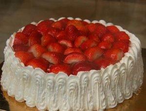 torta de fresa
