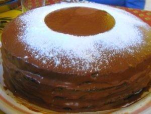 Torta de café y chocolate