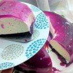 gelatina de leche gelatina de arandanos