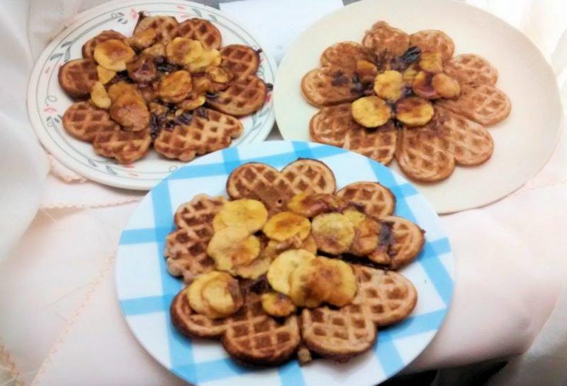 waffles de banana