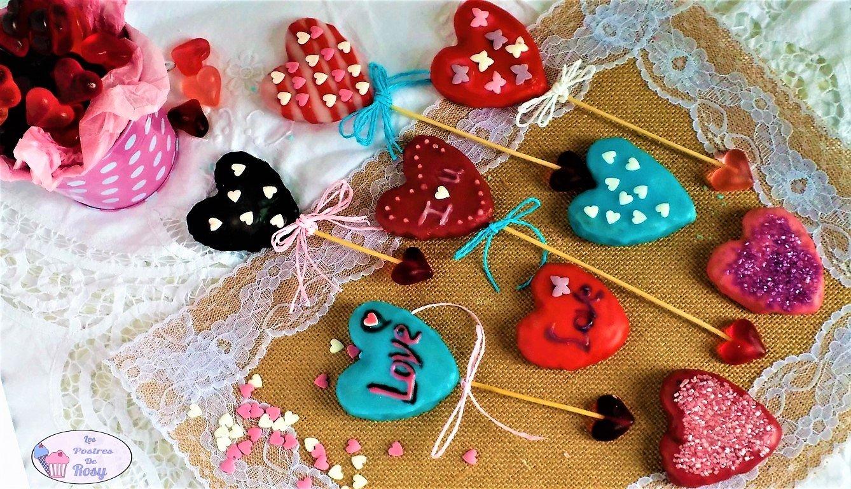 galletas veganas de san valentín