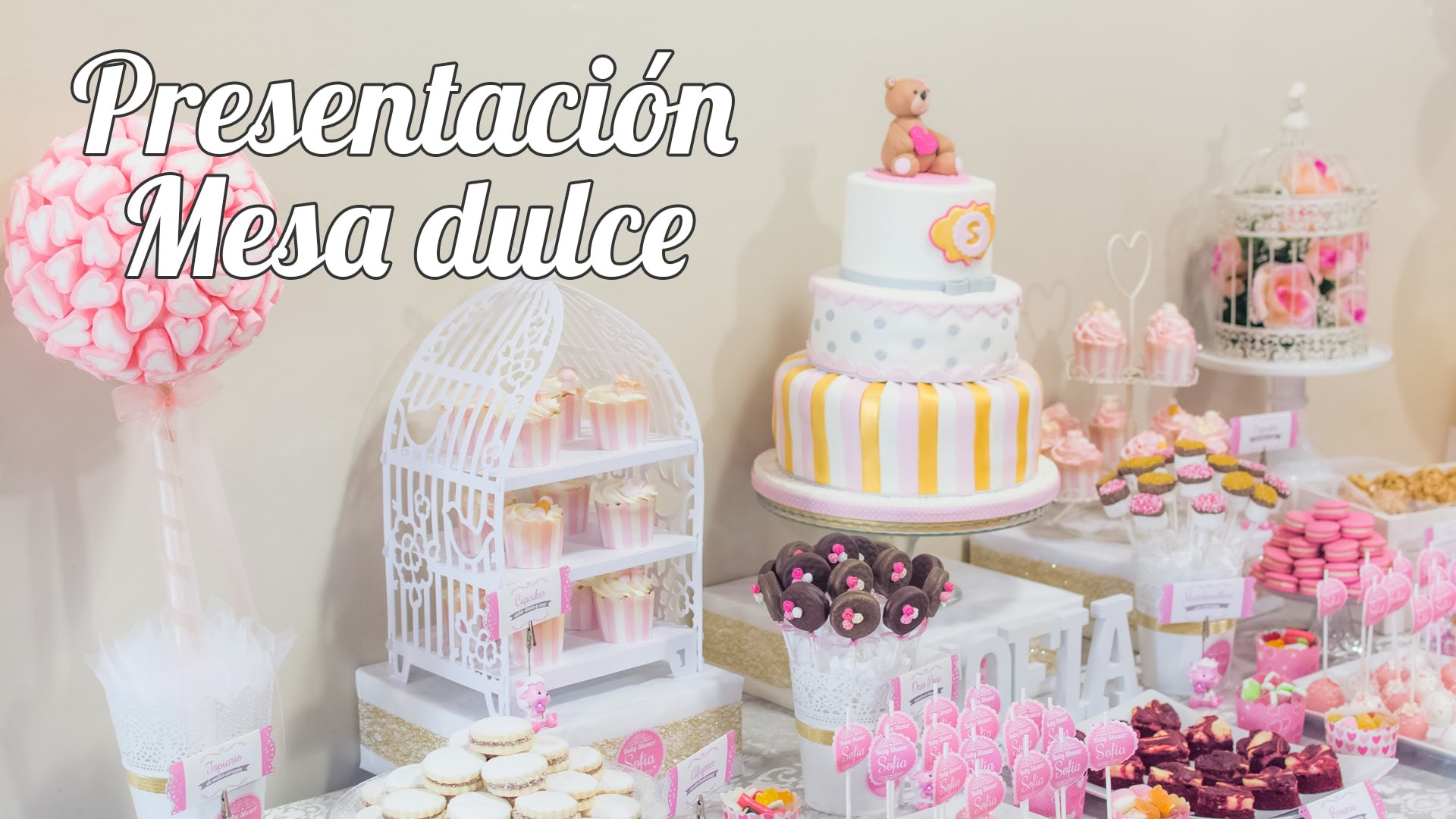 Como montar una mesa dulce para baby shower 01 for Mesa dulce para baby shower