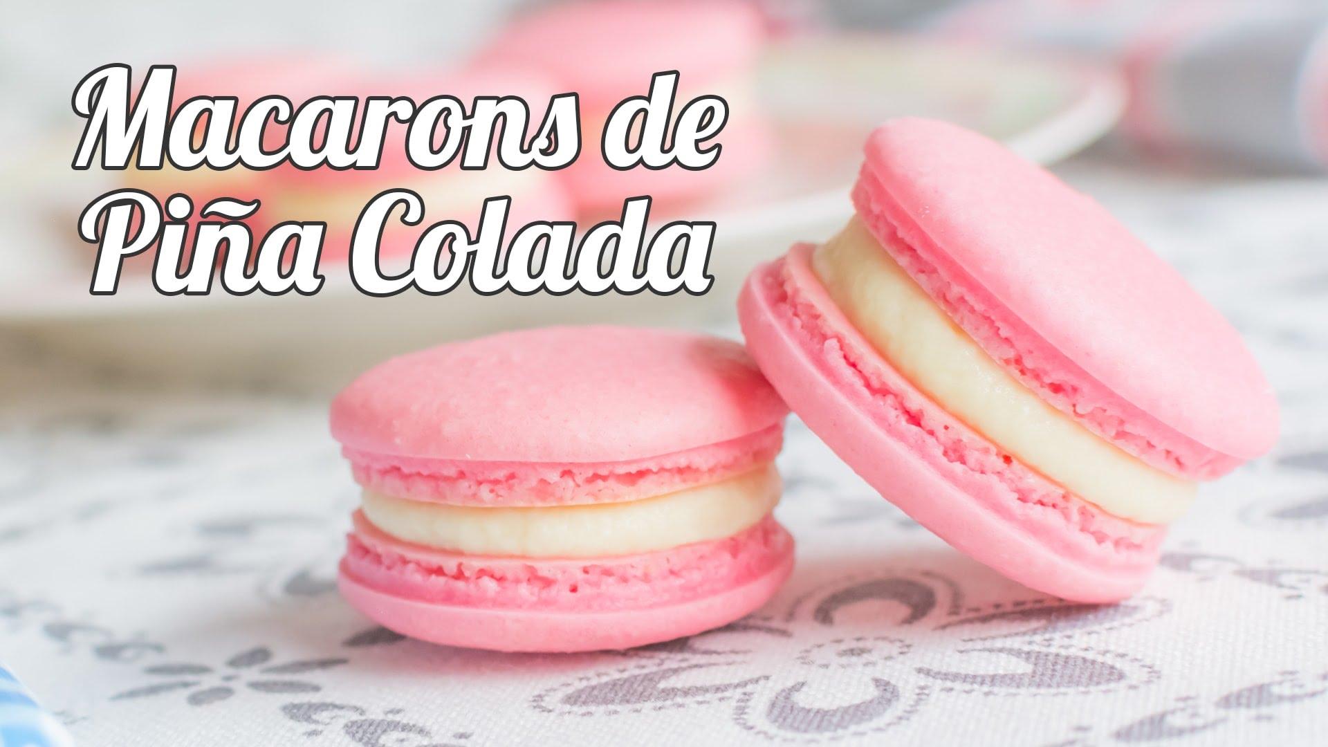 Macarons de Piña Colada - Recetas de postres y panes