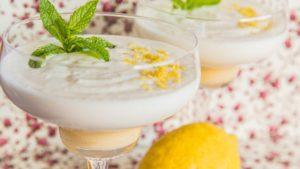 Mousse de limón fácil y refrescante