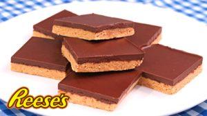 Barritas de Chocolate y Mantequilla de Cacahuete sin Horno