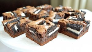 Brownies de chocolate con Oreo