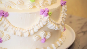 Decoración de un pastel de bodas