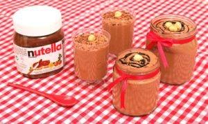 Mousse de Nutella deliciosa