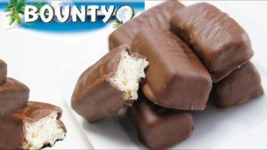 Chocolate bounty casero
