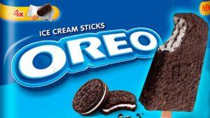 Paletas o helados de Oreo