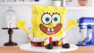 Torta Decorada de Bob Esponja