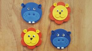 Galletas decoradas de animales de la selva