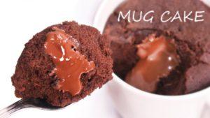 Volcán de Chocolate al Microondas